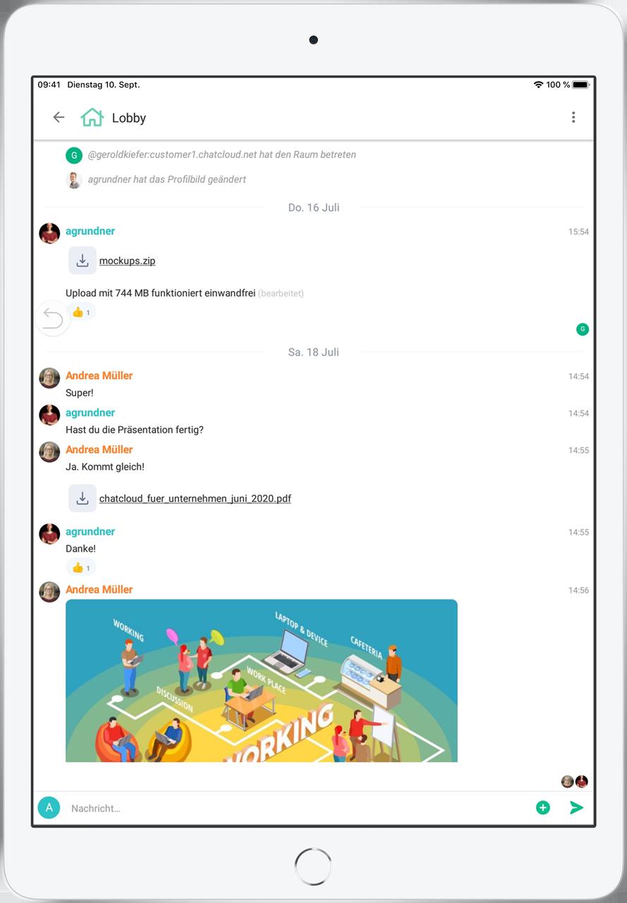 Collaborationssoftware auf iPad