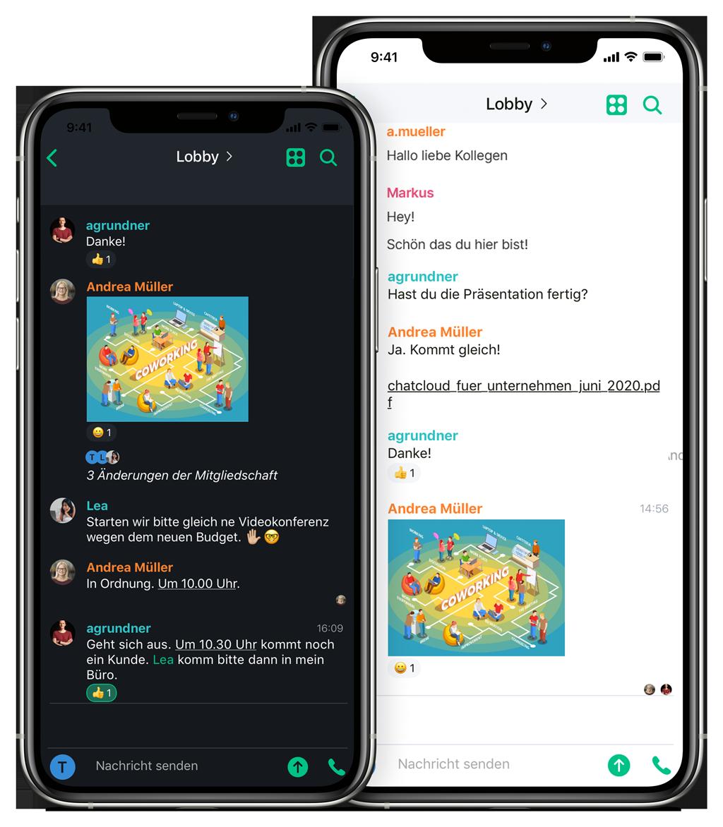 Chatcloud als E-Mail-Alternative am Handy