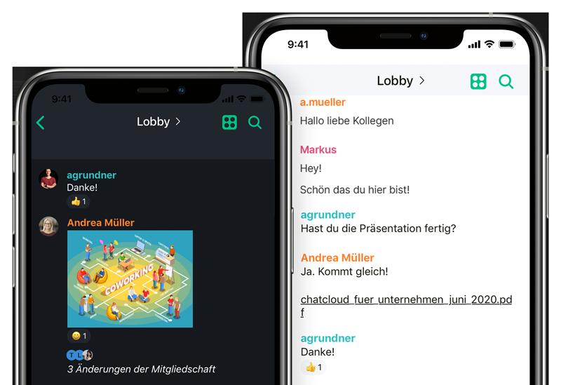 Element als Apps für iOS und Android