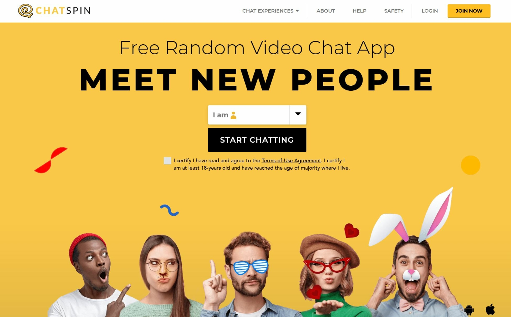 Chatspin is a random Video-Chat