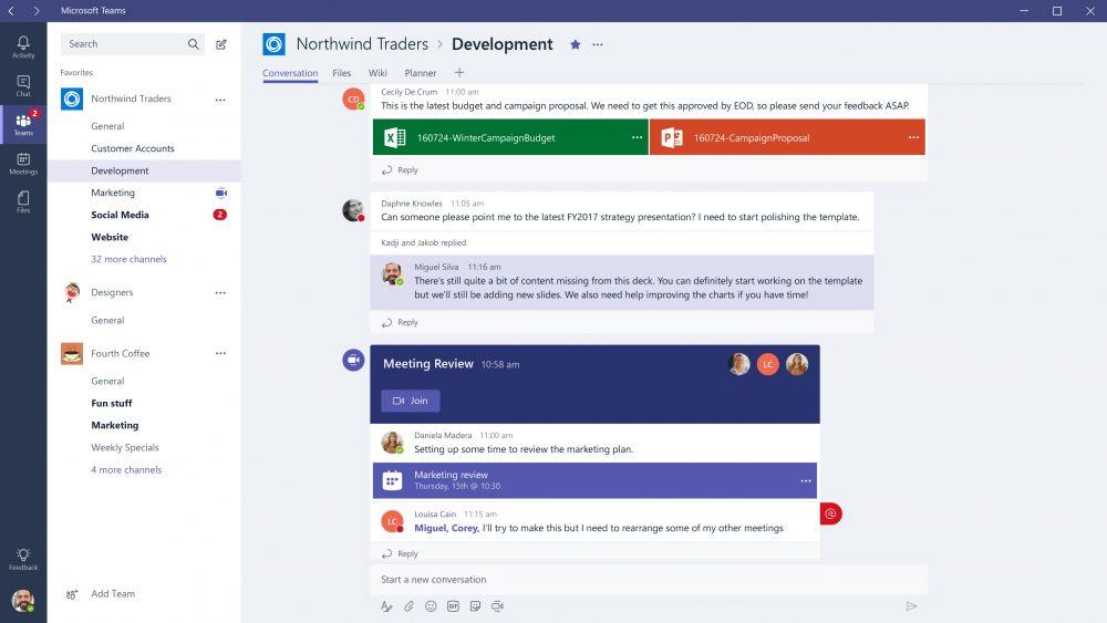 Screenshot of Microsoft Teams on Windows