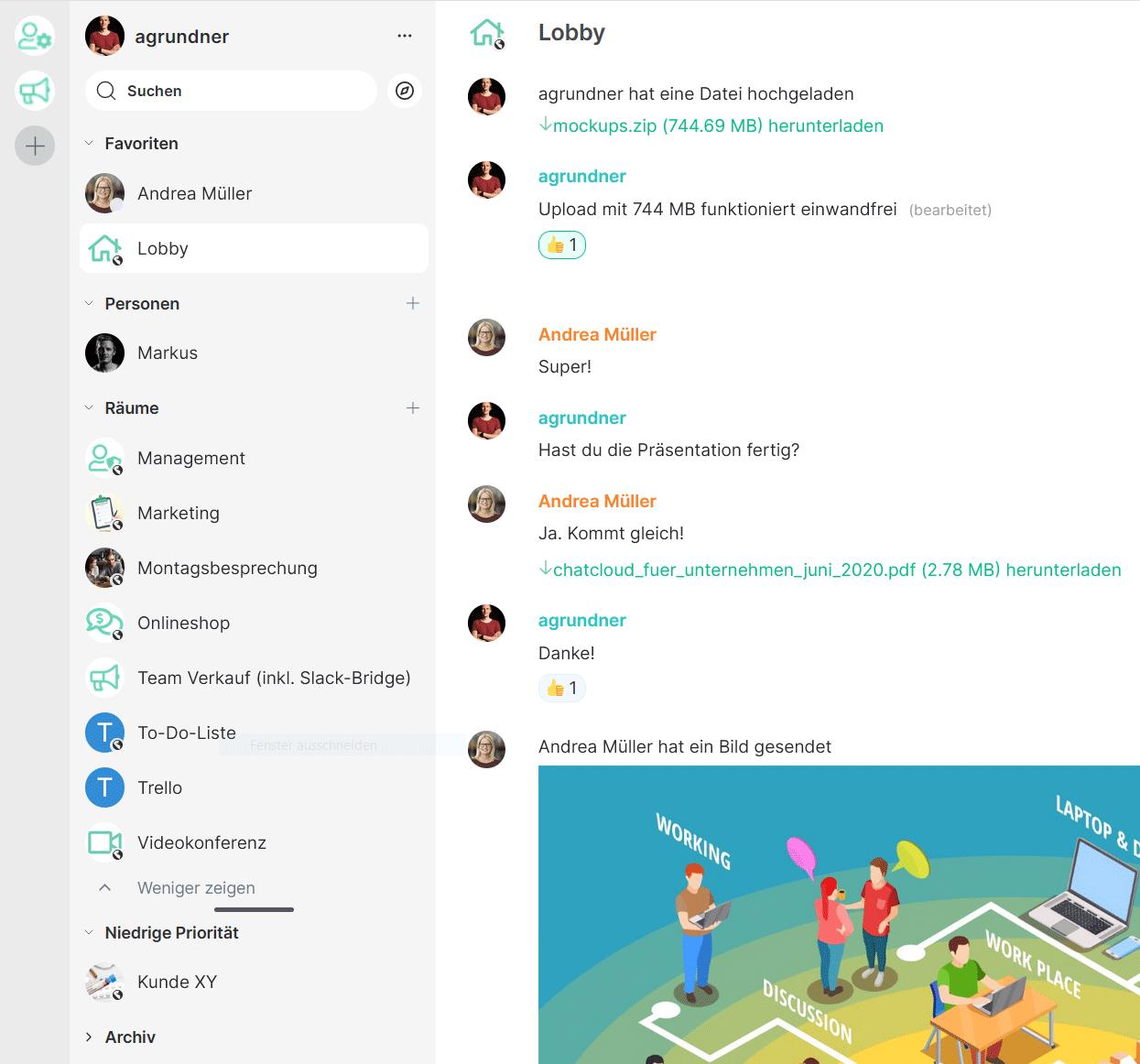 Team-Chat für Organisationen