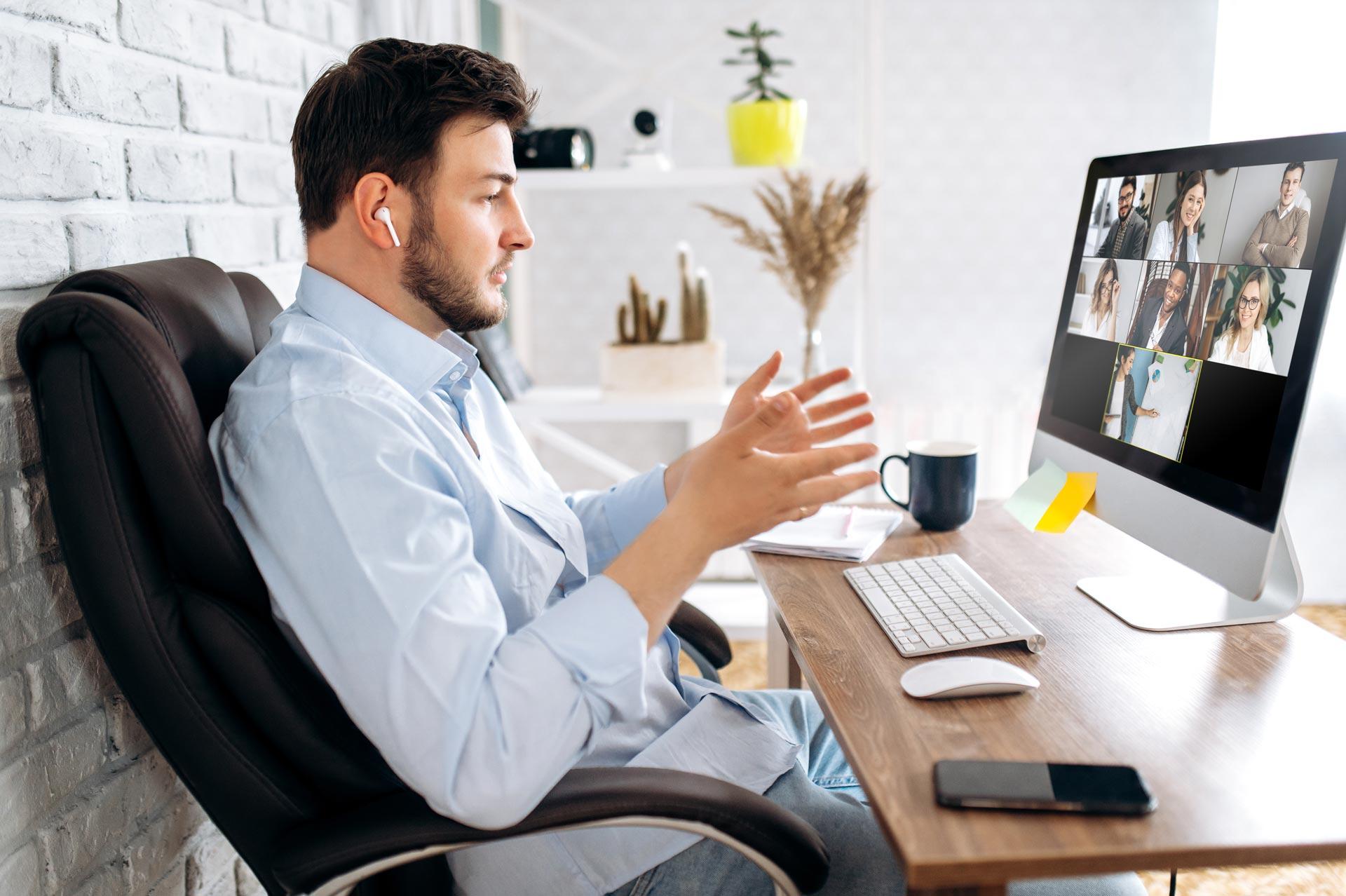 Onlinemeeting auf iMac mit Chatcloud